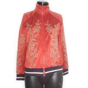 Forever 21 Women's Floral Print Full Zip Jacket